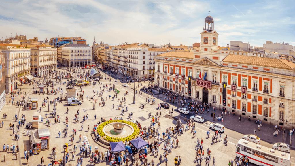 Vista aérea de Madrid, España